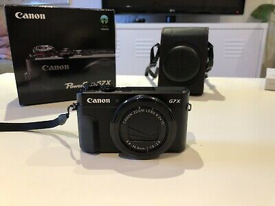Canon Powershot G7x Mark II Camera Black - BOXED WITH MANUAL AND CASE