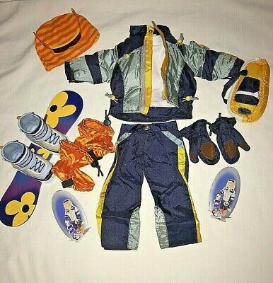 """Doll Clothes Snowboard Outfit Fits 18"""" American Girl Tolly Girl Lot 13 Pieces"""