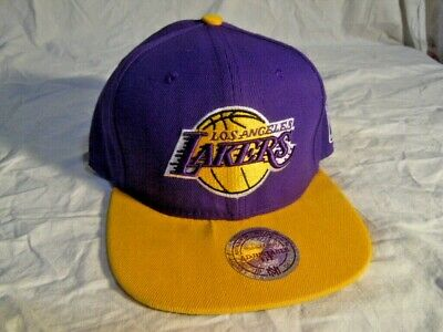 51a9b4977bdd2a Vtg Retro Mitchell & Ness Hardwood Classics NBA LA Lakers Hat Baseball Cap  New