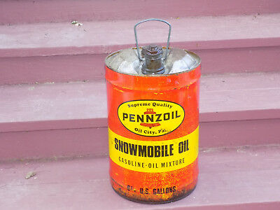 Pennzoil Snowmobile Oil 6 1/4 Gallon Dome Can