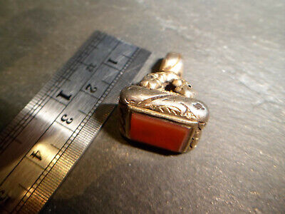 Antique Gold Cased Intaglio Wax Seal Fob Blank for an Albert Pocket Watch Chain