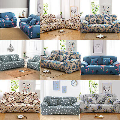 1/2 /3 /4 Seater Sofa Couch Slip Over Easy Fit Stretch Cover Elastic Protector