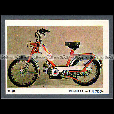 #MTP028 ★ BENELLI 50 BODO Cyclo Moped ★ Carte Moto Motorcycle card