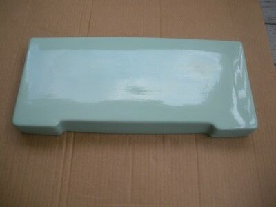 American Standard Toilet Tank Lid 4033, Ming Green Color, Dated May 17, 1956