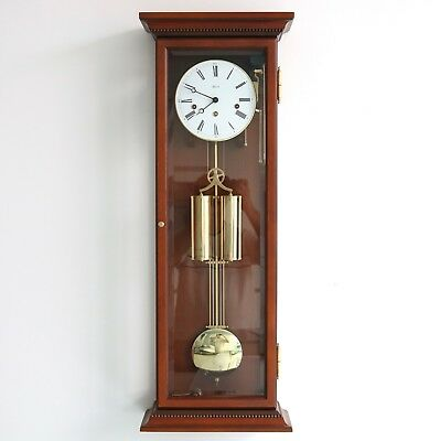 German HERMLE WALL CLOCK Design TOP RANGE TRANSLUCENT WESTMINSTER Chime! Weights