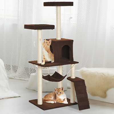 PawHut Multi-Level Cat Tree Scratcher Condo House Kitty Play Center Tower Toy