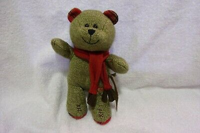 2009 Starbucks Coffee Plush Bear 88th Edition Holiday Bearista Toy Christmas 10""