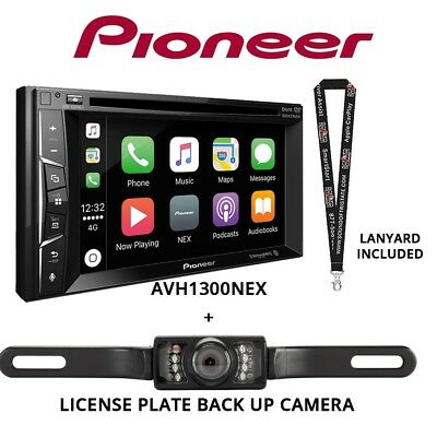Pioneer AVH-1300NEX DVD Receiver & License Plate Style Back Up Camera Included