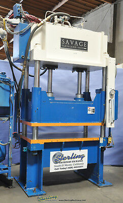 "60 Ton x 6"" Used Savage 4 Post Hydraulic Blanking Trim Press 60HTP A2756"