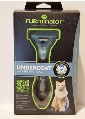 FURMINATOR DESHEDDING TOOL FOR SMALL CATS LONG HAIR (UP TO 10 Lbs) BRAND NEW