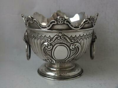 Antique Solid Sterling Silver Maltese STYLE Bowl 1903/ Dia 9.5 cm/ 178 g