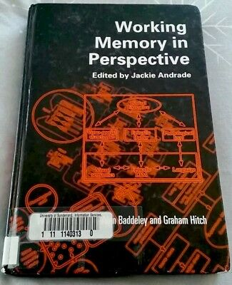 Working Memory in Perspective by Taylor & Francis Ltd (Paperback, 2002)