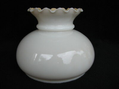 """Vintage Milk Glass GWTW Shade With Amber Interior 7"""" Fitter (Heavy Glass)  SH121"""