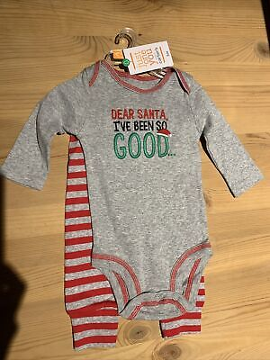 c070062e70fe NEW BABY CARTERS First Christmas Outfit Kiss Dear Santa Good Sizes ...