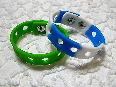 New Silicone Wristbands 4 Shoe Charms Will Also Fit Jibitz,Croc  C 632