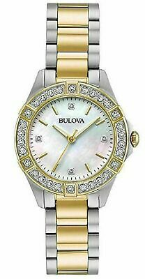 NEW Bulova 22 DIAMONDS 98R236 Two Tone Stainless Steel Ladies Watch