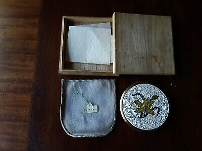 Vintage Japanese compact Circa 30's-40's in Original box and pouch