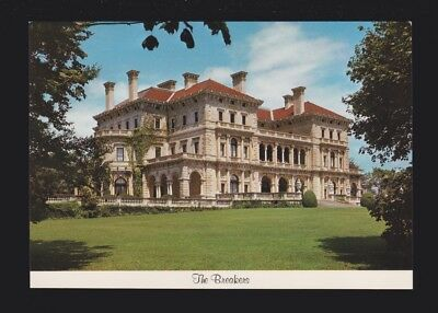 The Breakers Ochre Point Cliff Walk Magnificent Mansion Newport RI Postcard