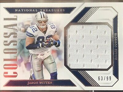 watch 1cab2 61488 2018 NATIONAL TREASURES Jason Witten Jumbo Jersey Patch #63/99 Dallas  Cowboys LS