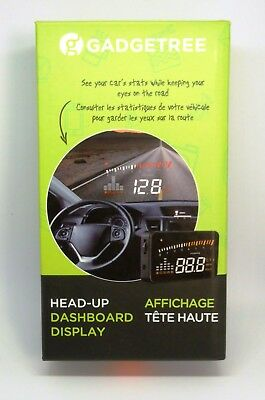 GADGETREE HEAD-UP DASHBOARD DISPLAY...See your SPEED/RPM on the Windshield. NEW