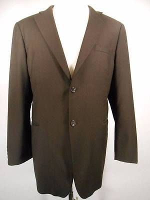 Blazer - Men's Caravelli Italy 'Superior 150's' 44R 38W Long Sleeve Brown Jacket
