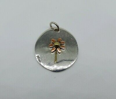 """Far Fetched Sterling Silver, Copper & Brass """"little things mean a lot"""" Necklace"""