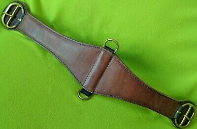 "Len Brown 32"" Never Tight XX Saddle CINCH~HIGH Quality~LIGHTLY Used~CLEAN Cond"