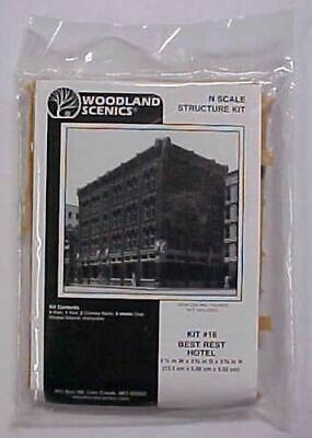 Woodland Scenics N Scale Best Rest Hotel kit