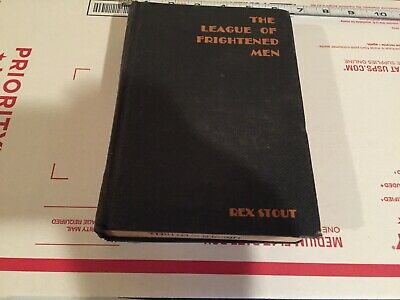 Vintage antique old book the league of frightened men rex stout 1935 rare wolfe