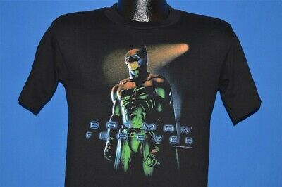 vintage 90s BATMAN FOREVER MOVIE BLACK 2 SIDED COTTON DC COMICS t-shirt YOUTH L