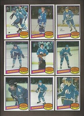 1980-81🔥OPC NORDIQUES Set (12) Michel Goulet RC 🔥O Pee Chee NM-MT Hockey Card