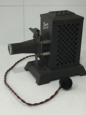 """Antique Pouva """"Bildwerfer"""" Slide Projector with Original Lens and Cord"""