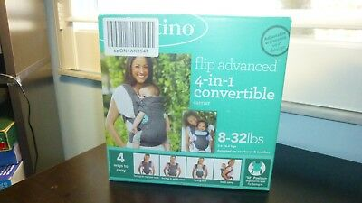 INFANTINO Flip Advanced 4-in-1 Convertible Carrier, Light Grey 8-23 Lbs - NEW