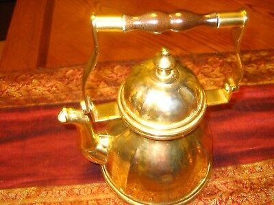 Lovely, Vintage Copper / Brass Tea Kettle with Wood & Metal Handle