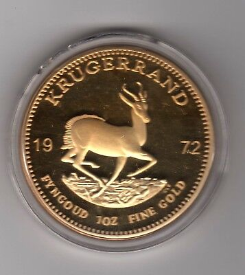 South Africa Gold plated Proof 1 Krugerrand