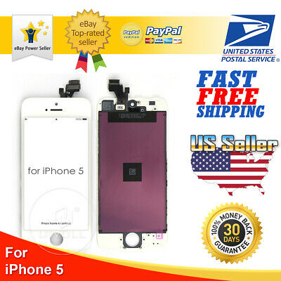 White iPhone 5 LCD Display Touch Screen Digitizer Frame Replacement A1428 A1429