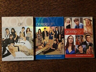 Gossip Girl Season 2, 3 & 4 DVD ~ Discs Like New or New, See Pics/Desc for Boxes