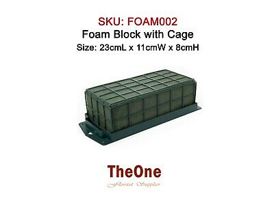 Oasis Wet Foam Block with Cage (For Fresh Flowers)