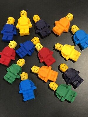 Edible LEGO Men Cake, Cup Cake Decorating Toppers, Birthday Toppers X 12