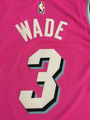 new styles 3540b 31c81 NIKE DWYANE WADE Earned City Edition Swingman Jersey Miami Heat Vice Medium  NBA