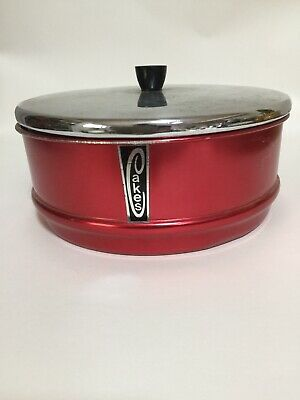 Vintage 1950's Anodised Metal Cake Tin