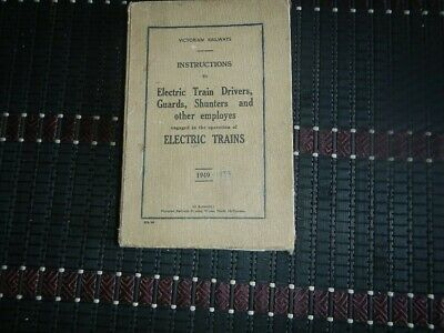 Victorian Railways Instruction Manual For Electric Train Drivers
