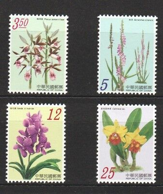 Rep. Of China Taiwan 2007 Orchids Of Taiwan Series Issue 1 Set Of 4 Stamps Mint