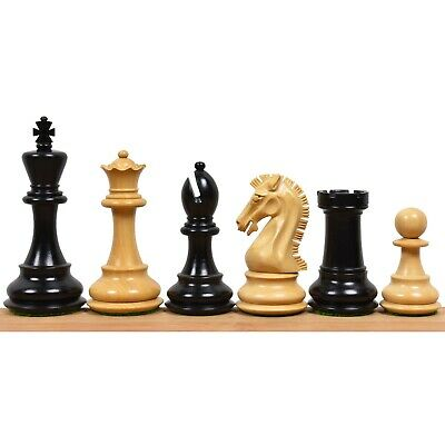 """3.9"""" Craftsman Series Staunton Chess Pieces Only set-Triple weighted Ebony Wood"""