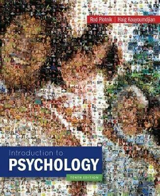 NEW Introduction to Psychology By Dr. Rod Plotnik Paperback Free Shipping