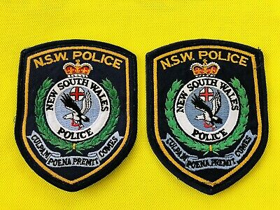 OBSOLETE: 1 Pair Vintage Police Patches. NSW Circa 1990s. Not Current Issue. VGC