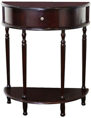 End Table Cherry Storage Living Room Half Round Tables Moon
