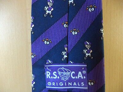 """R.S.C.A."" - Cravate originale aux couleurs du ROYAL SPORTING CLUB ANDERLECHT"