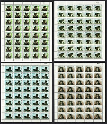 Laos WWF Sun Bear 4 Full Sheets of 40 stamps 40 sets MNH SG#1396-1399