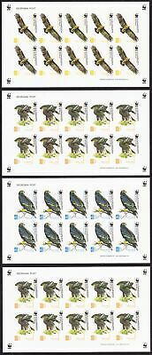 Georgia Birds WWF Greater Spotted Eagle 4 Sheetlets imperf MNH SG#509-512